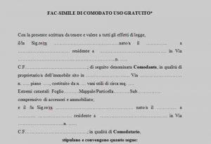 Contratto comodato d uso gratuito auto tovaglioli di carta for Comodato gratuito imu